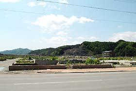 大槌町役場前 ガソリンスタンド