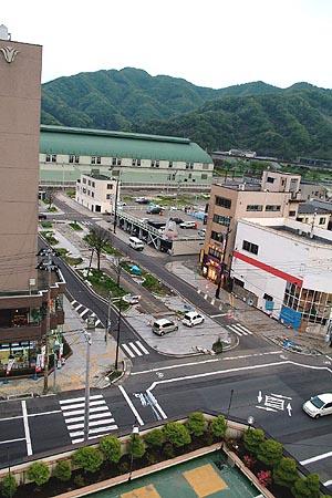 ホテル サンルート釜石からの眺め (クリックで拡大)