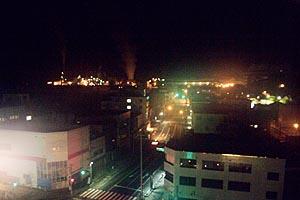 ホテル サンルート釜石からの夜景