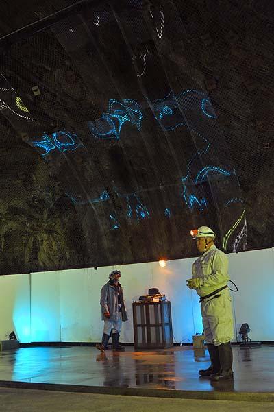 釜石鉱山 グラニットホール 地下音響実験室