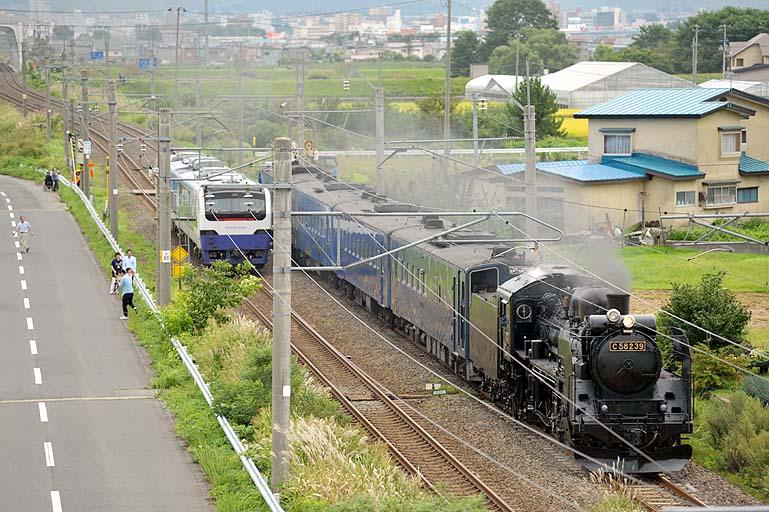 C58239 SL銀河青函DC号 試運転 リゾートしらかみ 撫牛子-川部